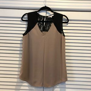 Nordstrom Rack • Sleeveless blouse w/ lace detail